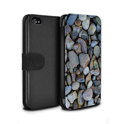 Stuff4 Coque/Etui/Housse Cuir PU Case/Cover pour Apple iPhone 4/4S / Cailloux des Plages Design / Pierre/Rock Collection Gros Cailloux