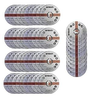 50 Pack Am-Tech 1.2mm x 115mm Thin Metal Cutting Discs - 3 Year Warranty