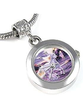 Timest - Einhorn Bead Uhr für Armbänder und Ketten Rund Analog Quarz EBA0180