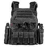 DUS Gilet Tattico Gilet Militare Uomo Tactical Vest per Softair Paintball Nerf CS