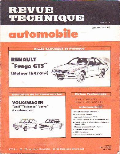 Revue technique automobile n°412, juin 1981 - Etude RENAULT