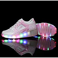 Led Shoes Bambini Scarpe Kinder Uomo Donna Heelys con Rotelle Forma per l'estate