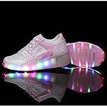 Led Zapatillas Light Shoes Kids Niño Niña Iluminará 7 Colores Forma Para el Verano