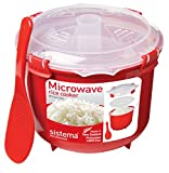 Sistema Microwave Rice Cooker, 2.6 L - Red/Clear