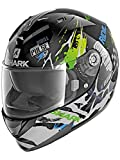 Shark Casco Integrale ridill drift-r NERO VERDE BLU KGB Taglia M
