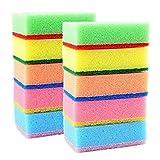 #9: J GO Delux Scrubbing Sponges Color - Multi (10 peace)