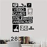 zqyjhkou Vinyle Sticker Jeux Vidéo Devis Jeux Adolescents Room Stickers Home Decor Stickers Muraux Vivant Amovible Sticker Mural D408 58 X 43 CM...