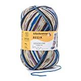 Regia 100g 4ply Sock Wool Design Line by Arne & Carlos Colour 2463 - 1ball makes 1pair by Schachenmayr