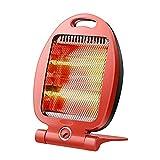 NAUY@ Calentador de cuarzo para el hogar Estufa de parrilla mini Calentador Calentador de radio provincial para ahorro de calor rápido con inclinación de 2 velocidades para oficinas pequeñas 300W / 60
