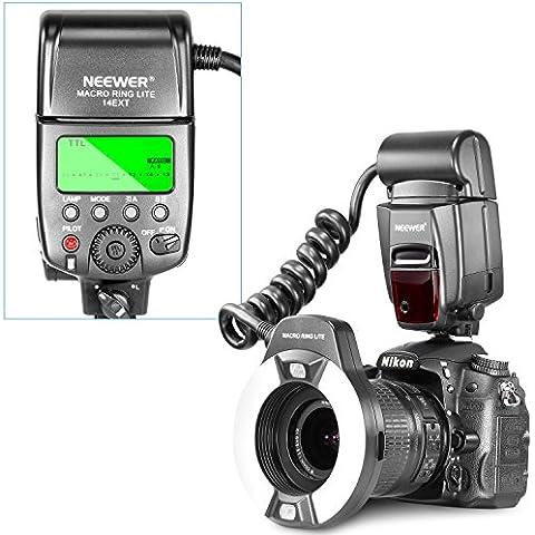 Neewer® Macro TTL Ring Anillo luz de flash con LED lámpara de ayuda AF, AF assist lamp para Nikon I-TTL camaras / como D7000, D5000, D5100, D3200,D3100, D3000, D3 series, D800,D700, D2 series, D300 series, D200, D90, D80s D70 series, D60, D50, D40 series, F6, COOLPIX8800, COOLPIX8400, COOLPIX P5000, COOLPIX P5100,COOLPIX P6000 y el resto de las cámaras DSLR