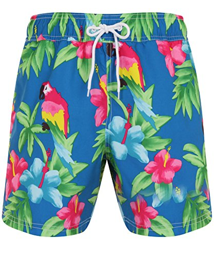 mens-parrot-print-hawaiian-parrot-print-swimming-board-shorts-beachwear-pool-trunks-blue-tropical-la