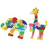 Non brand Sharplace Intelligenza Puzzle Giraffa Elefante Jigsaw Block Kids Toy Gifts