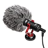 LeaningTech BOYA BY-MM1 Universal Cardiod Shotgun Microphone for Smartphones DSLR Camera Camcorder