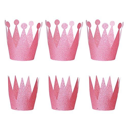 TOYMYTOY Geburtstag Krone Hüte Prinz Prinzessin Party Hüte Kronen Hut Kinder und Erwachsene Party Dekorationen 6pcs -