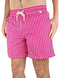 Polo Ralph Lauren Homme Striped Traveller Swim Shorts, Rose