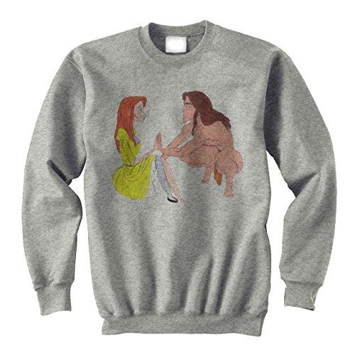 Tarzan And Jane Disney Fan Art Medium Unisex Sweater (Tarzan Und Jane Outfits)