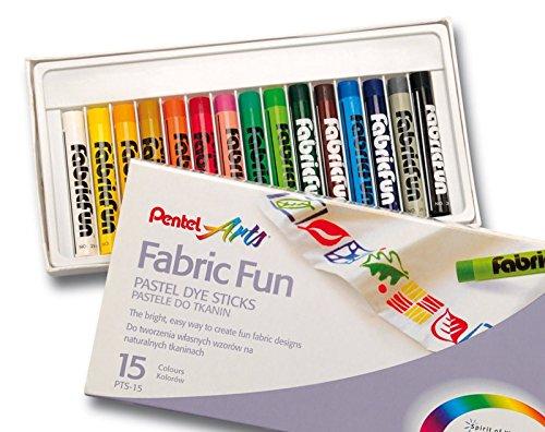 pentel-estuche-de-15-ceras-de-pastel-para-textil-ropa-diseno-dibujo-y-arte-7113