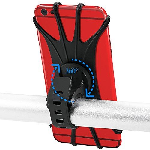 """O´ranka Handyhalterung Fahrrad 360° Silikon Handyhalter ist Kompatibel für alle Smartphones Das Motorrad Handyhalterung ist Universal und Kompatibel für Smartphones von 4"""" to 6"""" Zoll."""