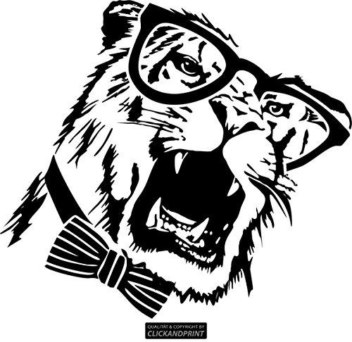 CLICKANDPRINT Aufkleber » Brillen-Tiger, 90x81,6cm, Schwarz • Wandtattoo / Wandaufkleber / Wandsticker / Wanddeko / Vinyl
