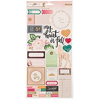 American Crafts Accnt/Phrs-Open Book Cs Stickers, Acrylic Multicolour, 15.49x33.02x0.07 cm