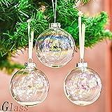 Valery Madelyn 6pcs Bolas de Navidad de Cristal de 8cm, Adornos de Navidad para Árbol de...