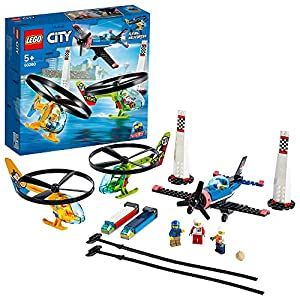 LEGO 60260 City Airport Air Race Toy, Plane & Helicopters Play Set, Aeroplane Toys for Kids 5+