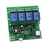 4 Kanal WIFI Momentary Inching Relais Selbstsicheren Schalter Modul, DIY WIFI Garagentor Controller (5-32 V)