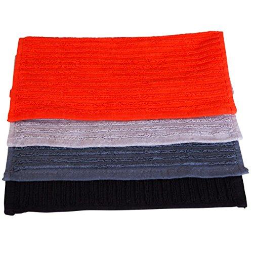 esto24® 4er Set Küchentücher Spültücher aus 100% Baumwolle in 4 tollen Farben