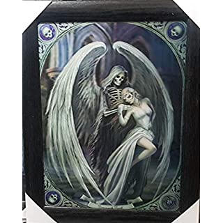 ANNE STOKES Official Gothic Collection Dance With Death Framed Lenticular 3D Art Poster Picture New size 47 x 37 cm