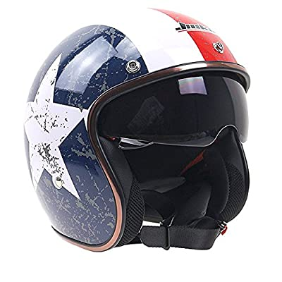 Lidauto Helmets Motorcycle Cross Bikes Classic Vintage Style for Adults Men Womens from Lidauto