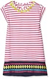 Hatley Girl's Lightweight Sleeveless Dress, White (Tassels/Fuchsia Stripe), 4 Years