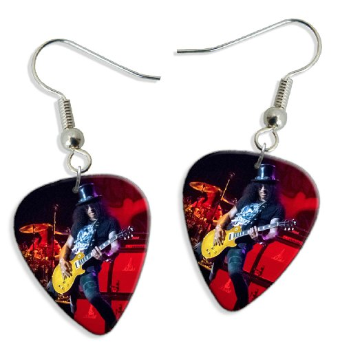 Slash (WK) 2 X Live Performance Guitarra Pick Earrings Pendientes