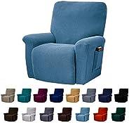 AlGaiety Stretch Recliner Slipcover Sofa Cover 4 Separate Pieces/1 Set Spandex Jacquard Fabric Furniture Prote