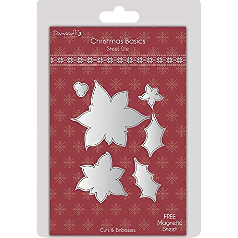 RAYHER 59742000Stencil Poinsettia-Christmas Basics, SB BTL,