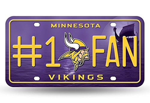 Unbekannt NFL # 1FAN Metall Auto Tag, Minnesota - Minnesota Sport