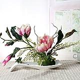 LSRHT Künstliche Blumen Set Ceramicstray Orchidee Wohnzimmer Dekoration Silk Blume Rosa