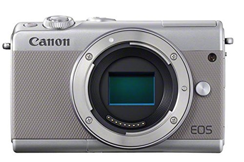 Canon EOS M100 - Cámara compacta de 24.2 MP (LCD, FHD, Bluetooth, Wifi/NFC, Dual Pixel AF, DIGIC 7) gris - solo cuerpo