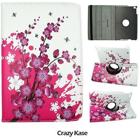 Funda iPad Mini 4Rotación 360°, diseño de flores japonesas–Crazy Kase