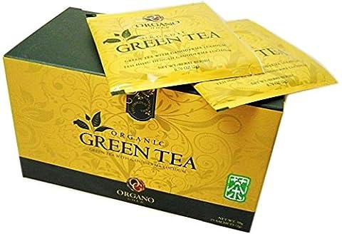 2 boîtes de thé vert biologique Organo