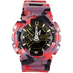 Adixion Sports Black Dial Scratch Resistant Analog Digital Watch -For Boys & Girls