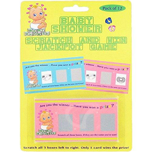 Unbekannt Alandra Baby Dusche Scratch Kartenspiele (12 Karten) (Bunt)