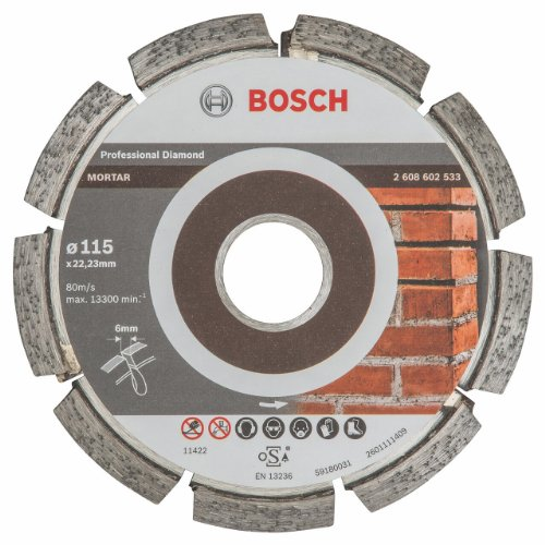 Bosch 2608602533 Fraise à joints Expert for Mortar 115 x 6 x 7 x 22,23 mm, 1 pièce