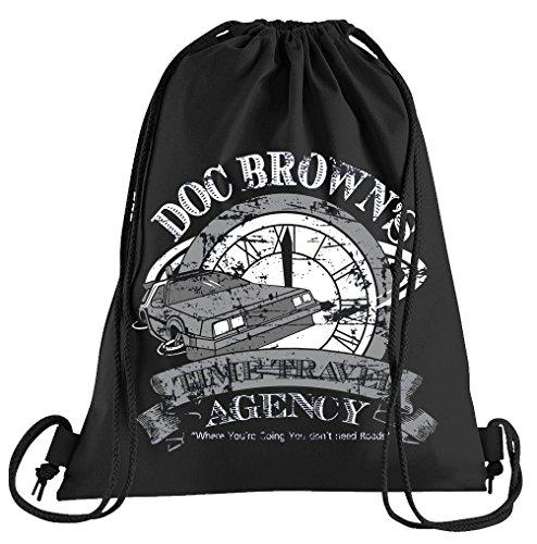 Fan Browns Kostüm - Doc Browns Time Travel Sportbeutel - Bedruckter Beutel - Eine schöne Sport-Tasche Beutel mit Kordeln Zukunft Flux Delorean DMC