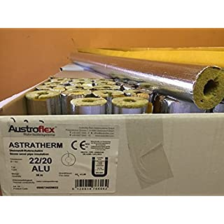 Austroflex Pipe insulation 22 x 20mm filled with Box 36m Contains Pipe bowls foil-laminated Rock wool mineral wool Mineral fiber shell Isolation