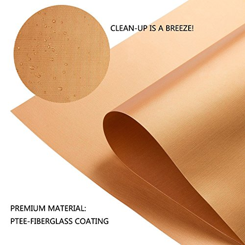 LIVIVO ® Pack of 2 Heavy Duty Reusable Non-Stick Wipe Clean Oven Liner Sheets (Copper)