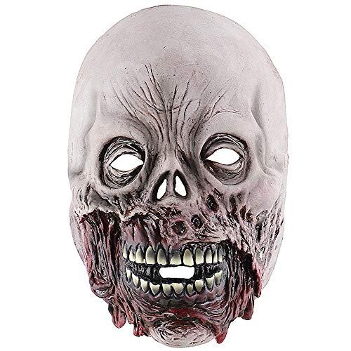 Over-Sky Faule Mund Zombie Horror Schädel Maske gruselig Spuk Haus Zimmer zu entkommen Latex Haube zu verkleiden