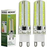 MENGS® Pack de 2 Regulable Bombilla lámpara LED 7 Watt G9, 152x 3014 SMD, Blanco Frío, AC 220-240V