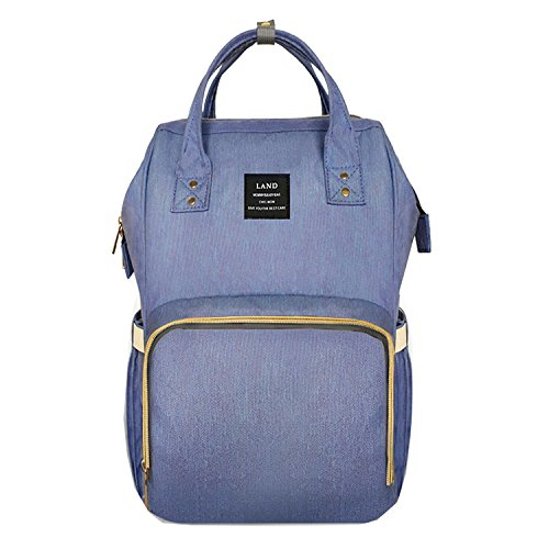 Preisvergleich Produktbild BigForest Mummy Ruckscke Travel Bag Multifunction baby Wickeltasche Diaper Nappy Changing light blue Handtaschen tote bag