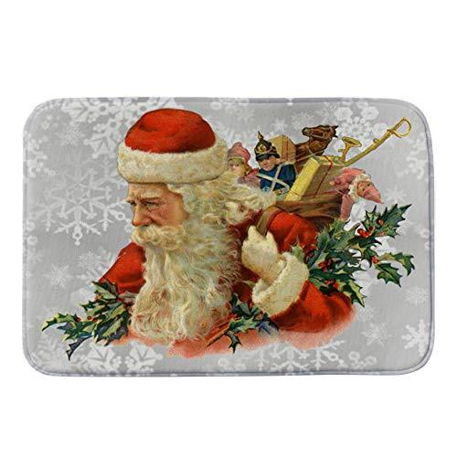 BESSKY Merry Christmas Welcome Doormats Indoor Home Carpets Decor 40x60CM Frohe Weihnachten Weihnachten Super Soft Wasserdichte rutschfeste Matte (Wasserdichte Spleiße)