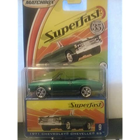 Matchbox 35th Anniversary Superfast New Model 1971 Chevrolet Chevelle SS #9 by Mattel